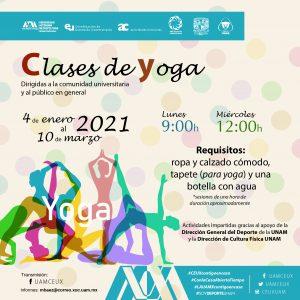Clases de yoga a través de @uamceux en Facebook