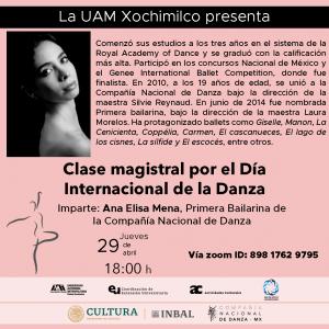 Clase Magistral por el Día Internacional de la Danza